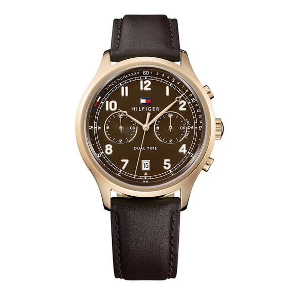 Tommy Hilfiger Mens Brown 1791387 Watch main image