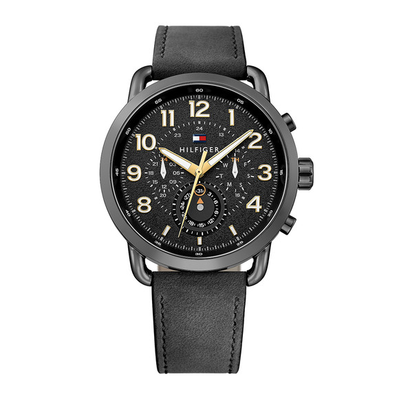 Tommy Hilfiger Mens Black 1791426 Watch main image