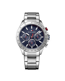 Tommy Hilfiger Mens Silver Hudson Watch