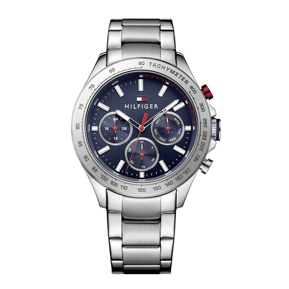 Tommy Hilfiger Mens Silver Hudson Watch main image
