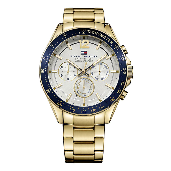 Tommy Hilfiger Mens Gold Gold Plated Watch main image