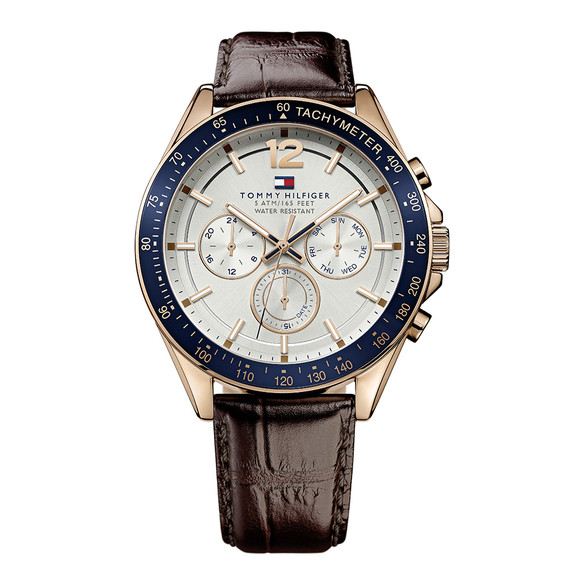 Tommy Hilfiger Mens Brown 1791118 Watch main image