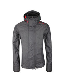 Superdry Mens Grey Tech Hood Pop Zip Windcheater