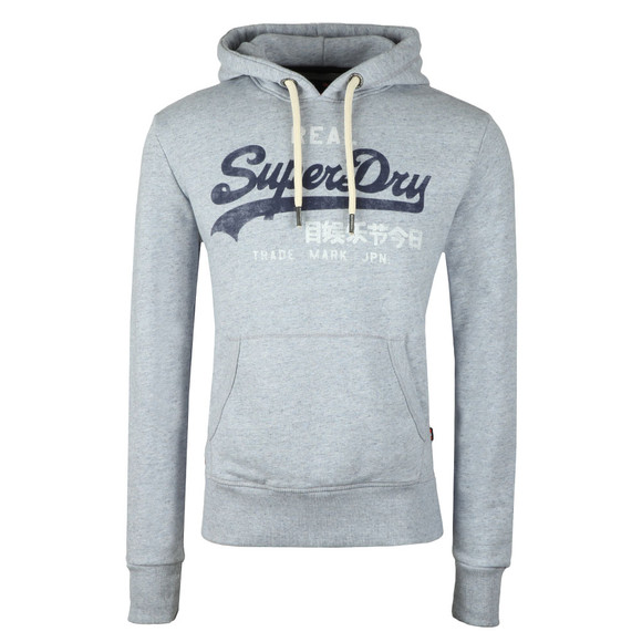 Superdry Mens Blue Vintage Logo Duo Hood main image