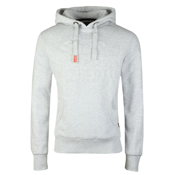 Superdry Mens Grey Vintage Logo Authentic Emboss Hoodie main image
