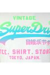 Superdry Mens White Vintage Logo Hyper Fade Tee