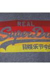Superdry Mens Blue Vintage Logo Cali Stripe Tee