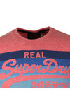 Superdry Mens Red Vintage Logo Cali Stripe Tee