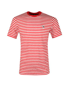 PS Paul Smith Mens Red S/S Stripe Tee
