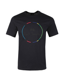 PS Paul Smith Mens Blue S/S PS Circle Tee