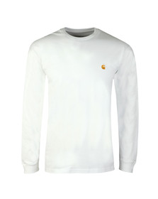Carhartt Mens White Long Sleeve Chase T Shirt