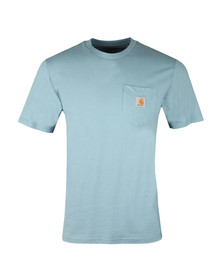 Carhartt Mens Blue Pocket Crew T-Shirt