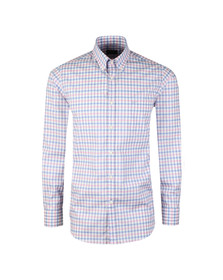 Paul & Shark Mens White Lightweight Check Shirt