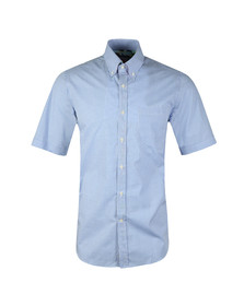 Paul & Shark Mens Blue Gingham Short Sleeve Shirt