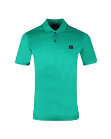 Paul & Shark Mens Green Plain Polo Shirt