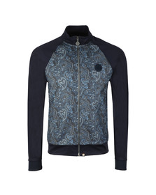 Pretty Green Mens Blue Paisley Track Top