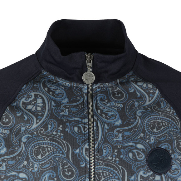 Pretty Green Mens Blue Paisley Track Top main image