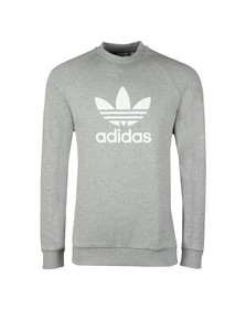 Adidas Originals Mens Grey Trefoil Crew Sweat
