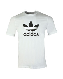 Adidas Originals Mens White Trefoil Tee