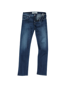 Jacob Cohen Mens Blue PW625 Regular Tapered Jean