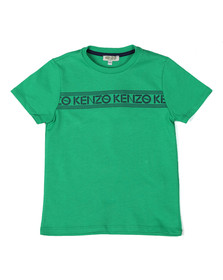 Kenzo Kids Boys Green Stripe Logo T Shirt