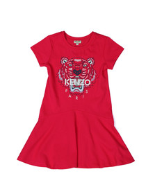 Kenzo Kids Girls Pink Tiger Print Dress