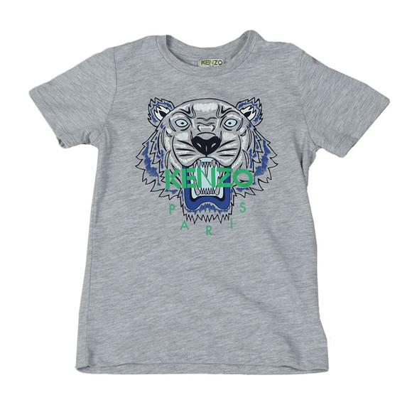 Kenzo Kids Boys Grey Boys Tiger Print T Shirt main image