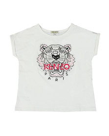 Kenzo Kids Girls White Roll Sleeve T Shirt