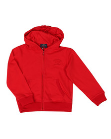 Paul & Shark Cadets Boys Red Tonal Logo Full Zip Hoody