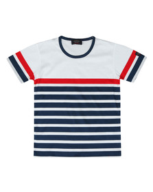 Paul & Shark Cadets Boys White Stripe T Shirt