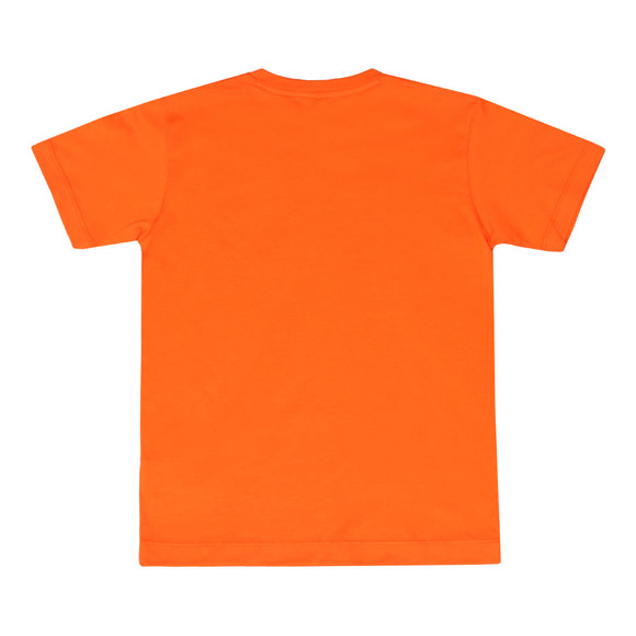 Paul & Shark Cadets Boys Orange Large Logo Crew T Shirt main image