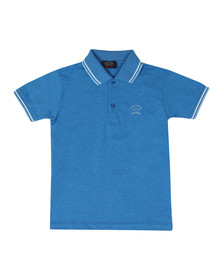Paul & Shark Cadets Boys Blue Tipped Polo Shirt