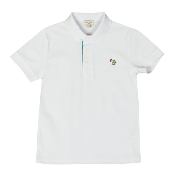 Paul Smith Junior Boys White Ridley Polo Shirt