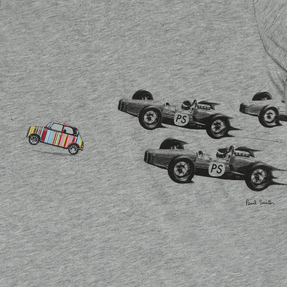 Paul Smith Junior Boys Grey Ronnie Racing T Shirt main image