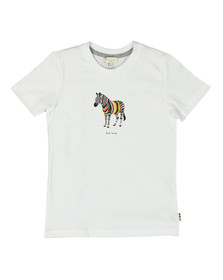 Paul Smith Junior Boys White Romano Zebra T Shirt