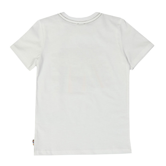 Paul Smith Junior Boys White Romano Zebra T Shirt main image