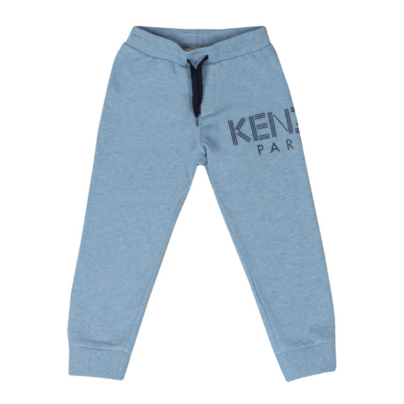 Kenzo Kids Boys Blue Logo Fleece Jogger main image