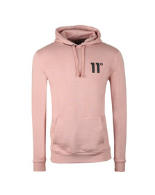 Eleven Degrees Mens Pink Pull Over Hoodie