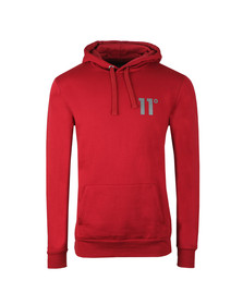 Eleven Degrees Mens Red Pull Over Hoodie