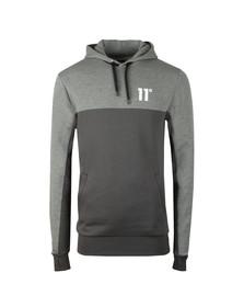 Eleven Degrees Mens Grey Block Logo Hoodie