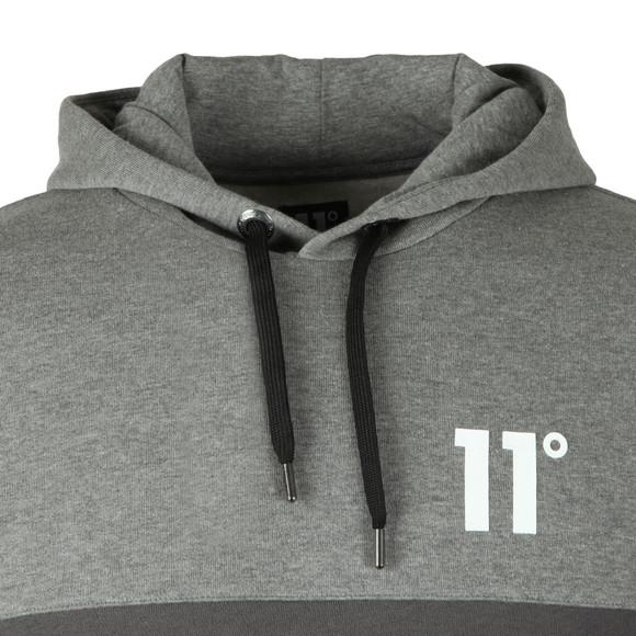 Eleven Degrees Mens Grey Block Logo Hoodie main image