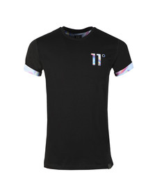 Eleven Degrees Mens Black S/S Logo Tee