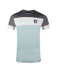 Eleven Degrees Mens Grey S/S Soccer Tee