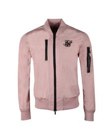 Sik Silk Mens Pink Identify Bomber Jacket