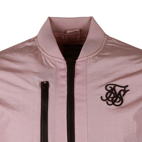 Sik Silk Mens Pink Identify Bomber Jacket main image