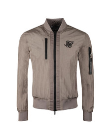 Sik Silk Mens Grey Identify Bomber Jacket