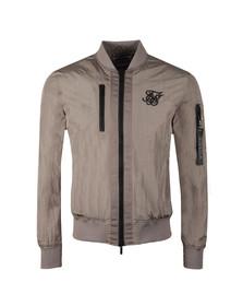 Sik Silk Mens Grey Identify Bomber Jacket
