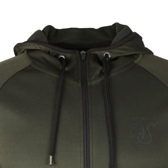Sik Silk Mens Green Athlete Zip Through Hoodie main image