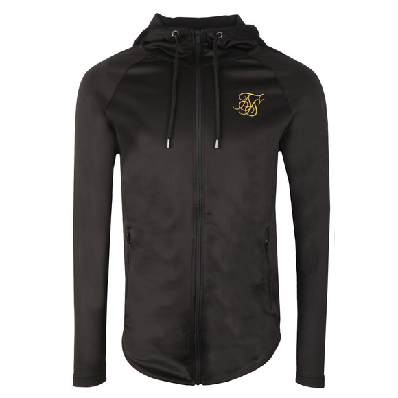 Sik Silk Mens Black Athlete Zip Through Hoodie main image