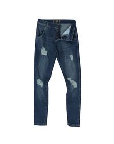 Sik Silk Mens Blue Distressed Skinny Jean